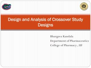 Design and Analysis of Crossover Study Designs