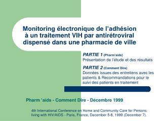 Pharm'aids - Comment Dire - Décembre 1999
