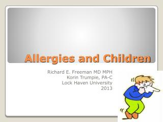 Allergies and Children