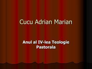 Cucu Adrian Marian