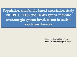 Asem Surindro  Singh, Ph. D. Email: asemsuren@gmail