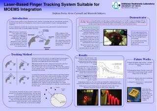 Laser-Based Finger Tracking System Suitable for MOEMS Integration