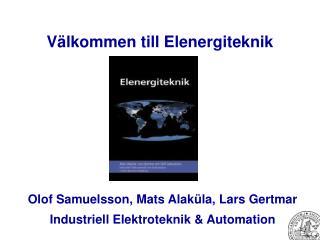Välkommen till Elenergiteknik