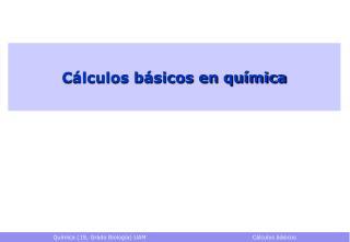 Cálculos básicos en química