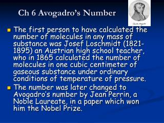 Ch 6 Avogadro's Number
