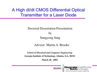 A High dI/dt CMOS Differential Optical Transmitter for a Laser Diode