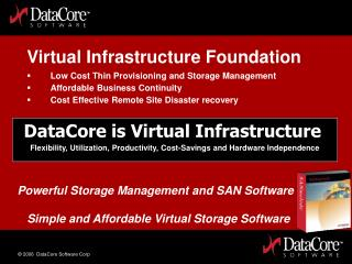 DataCore is Virtual Infrastructure