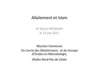 Allaitement et Islam