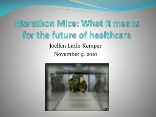 Marathon Mice: What it means for the future of healthcare