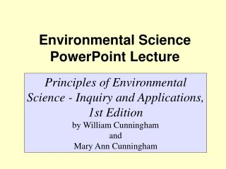 Environmental Science  PowerPoint Lecture