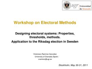 Stockholm, May 30-31, 2011