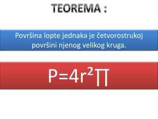 TEOREMA :
