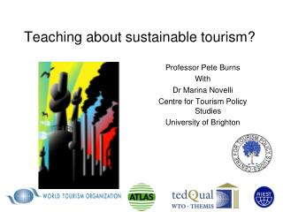 Teaching about sustainable tourism?