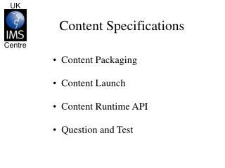 Content Specifications