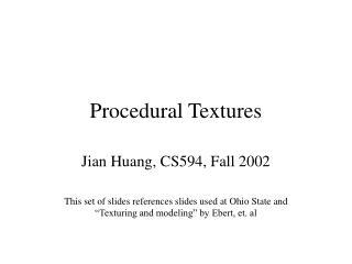 Procedural Textures