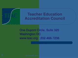 Teacher Education   Accreditation Council