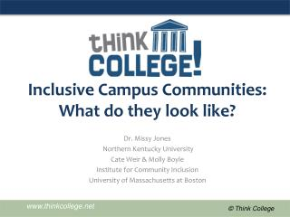 Inclusive Campus Communities: What do they look like?