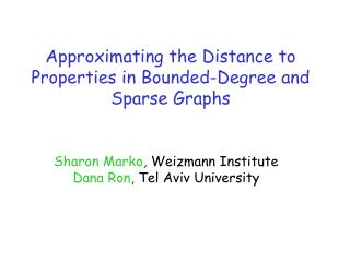 Approximating the Distance to Properties in Bounded-Degree and Sparse Graphs