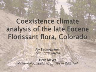 Coexistence climate analysis of the late Eocene Florissant flora, Colorado