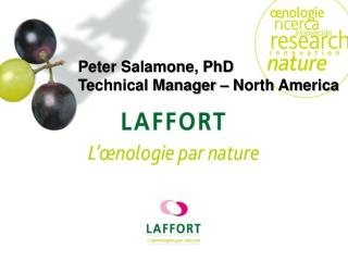 Peter Salamone, PhD Technical Manager – North America