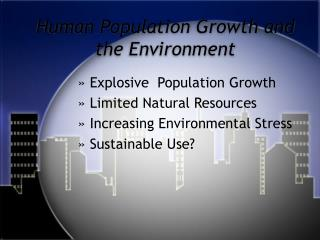 Population and Environment PPT