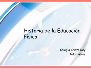 Historia de la Educaci n F sica