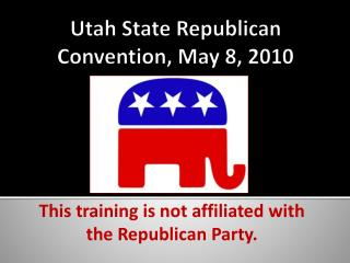 Utah State Republican Convention, May 8, 2010
