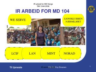 IR ARBEID FOR MD 104