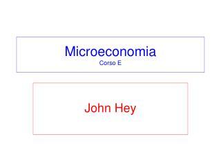 Microeconomia Corso E