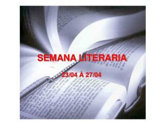 SEMANA LITERARIA