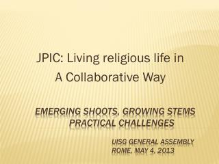 JPIC: Living religious life in  A Collaborative Way