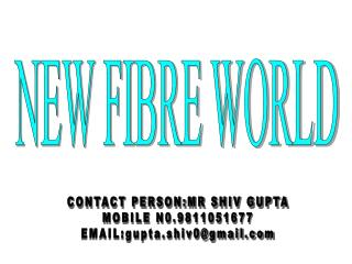 NEW FIBRE WORLD