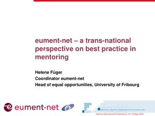 eument-net – a trans-national perspective on best practice in mentoring