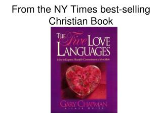 From the NY Times best-selling Christian Book