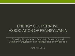 Energy Cooperative Association of Pennsylvania