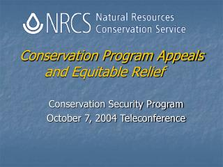 Conservation Program Appeals and Equitable Relief