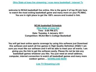 Ohio State at Iowa live streaming | ncaa mens basketball | i