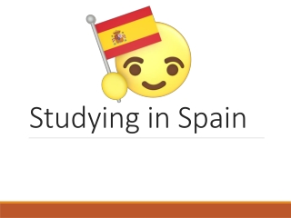 Studying in Spain: