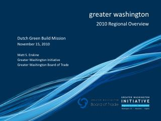 greater washington 2010 Regional Overview