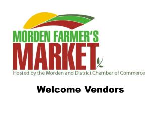 Welcome Vendors
