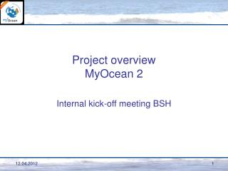 Project overview MyOcean 2