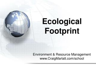 Ecological Footprint Slideshow