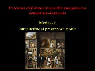 Percorso di formazione sulla competenza semantico-lessicale