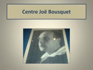 Centre Joë Bousquet