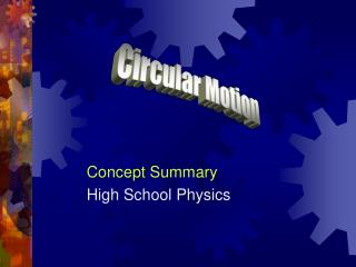 Concept Summary High School Physics
