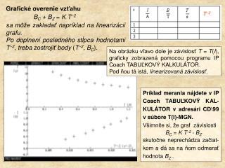 Grafick é  overenie vzťahu                  B C  + B Z  =  K T --2