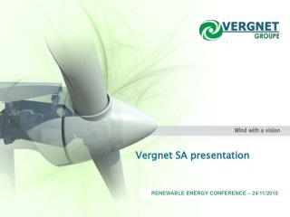 RENEWABLE ENERGY CONFERENCE – 24/11/2010