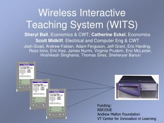 Wireless Interactive Teaching System WITS