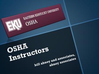 OSHA Instructors