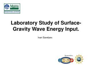 Laboratory Study of Surface-Gravity Wave Energy Input.